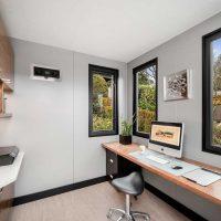 Custom modern backyard home office in Vancouver BC