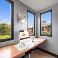 Modern backyard office in Vancouver BC